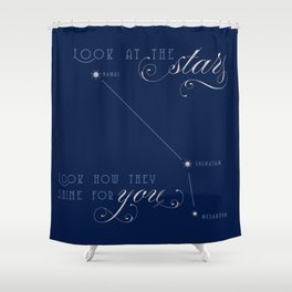 Aries Stars Shower Curtain
