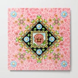Pink Pansy Cottage Metal Print