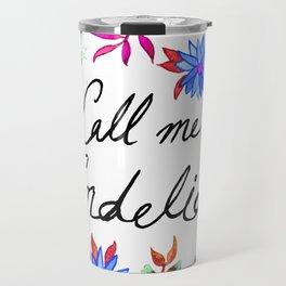 Call Me Cordelia - Blue Flowers Travel Mug