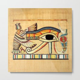 Egypt Nekhbet Eye Horus Metal Print