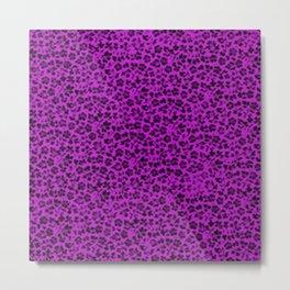 Vintage Flowers Dazzling Violet Metal Print