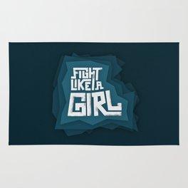 Fight like a girl Rug
