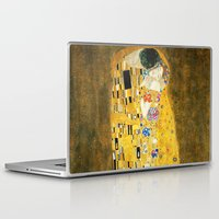 gustav klimt Laptop & iPad Skins featuring Gustav Klimt The Kiss by Art Gallery