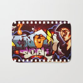 Grafitti Strip Film Bath Mat
