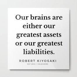 36   |  Robert Kiyosaki Quotes | 190824 Metal Print