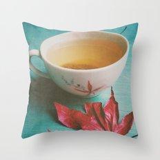 Retro Tea Throw Pillow