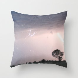 mother nature's fury Throw Pillow