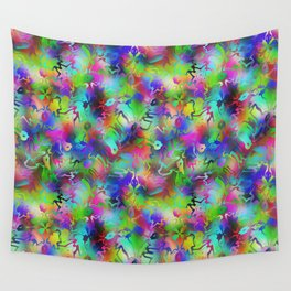 Electric Rainbow Shocker Wall Tapestry