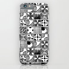 Black and White Abstract Squares Slim Case iPhone 6s
