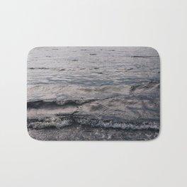 Waves of Gray Bath Mat