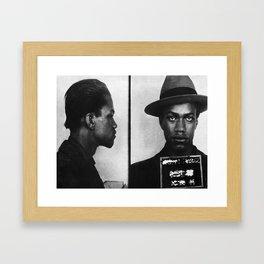 Malcolm X Mugshot Framed Art Print