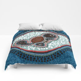 Aboriginal Water Turtle Comforters