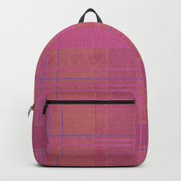 pink madras Backpack