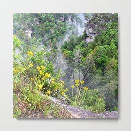 Cliff Flowers Metal Print