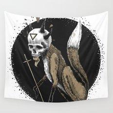 Kitsune Demon Fox Wall Tapestry