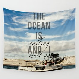 The Ocean is Calling Wall Tapestry