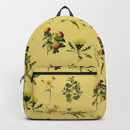 Wild Forest & Field Yellow Flower Herb Pattern Backpack