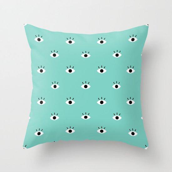 Blue Vision Throw Pillow