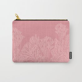 Dusty Pink Coral Garden Carry-All Pouch