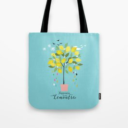 Happiness is a lemon tree Tote Bag