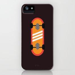 Orange Skateboard iPhone Case