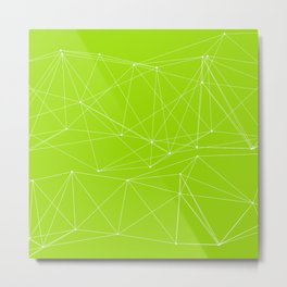 LIGHT LINES ENSEMBLE GREEN Metal Print
