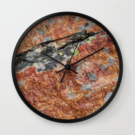 Red Stone Wall Clock