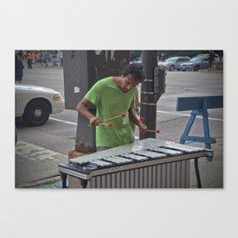 Marimba Player Canvas Print