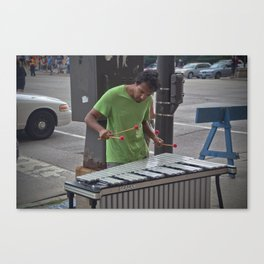 Marimba Player Canvas Print