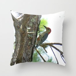 Red-bellied Woodpecker Close-up Throw Pillow