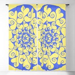 True Blue Mandala Blackout Curtain