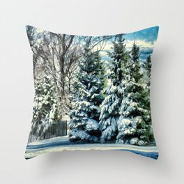 Winter In New England Throw Pillow