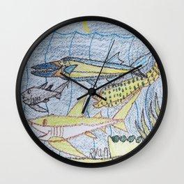 Needlefish & Friends Wall Clock