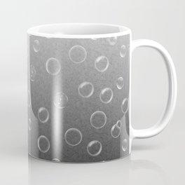 Bubbles on White to Black Gradient Coffee Mug