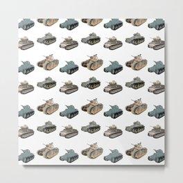 Various French WW2 Tanks Metal Print