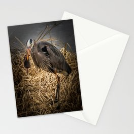 Heron and the mole Stationery Cards