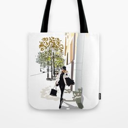 Autumn Girl Tote Bag