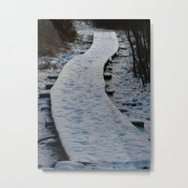 Adirondack Mountains in Winter Metal Print