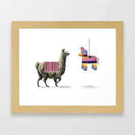 Llama Party Framed Art Print