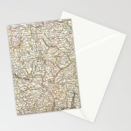 Vintage Map of Switzerland (1771) Stationery Cards