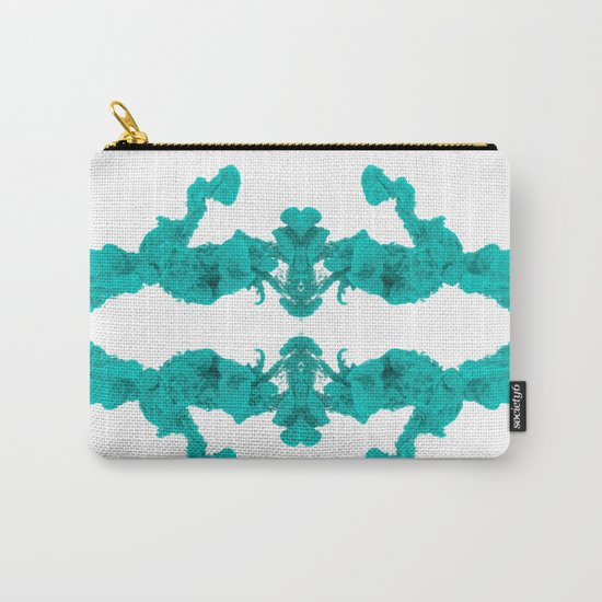 Cyan Ink Drop In Water Carry-All Pouch