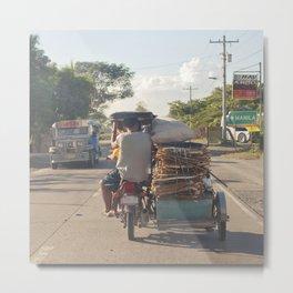 next stop: Manila... Metal Print