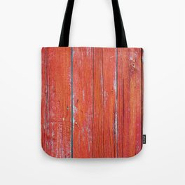 Red Rustic Fence rustic decor Tote Bag