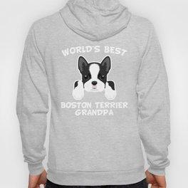 World's Best Boston Terrier Grandpa Hoody