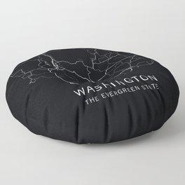Washington State Road Map Floor Pillow