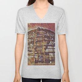Germany Reichstag Dome Artistic Illustration Retina Stones Style Unisex V-Neck