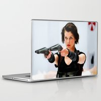 resident evil Laptop & iPad Skins featuring Milla Jovovich @ Resident Evil by Gabriel T Toro
