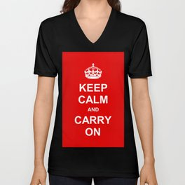Keep Calm and Carry On Unisex V-Neck