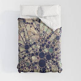 Colorful tree loves you and me. Duvet Cover