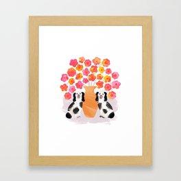 Spring Fling – Dogs Framed Art Print
